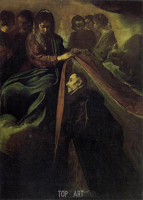 St. Idelfonso Receiving Chasuble from the Virgin, c.1620 | Velazquez | Gemälde Reproduktion