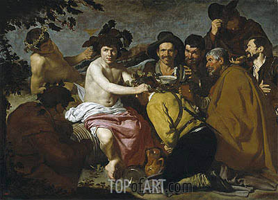 The Triumph of Bacchus, c.1628/29 | Velazquez| Painting Reproduction