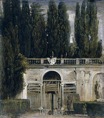 Villa Medici in Rome (Pavillion of Ariadne), c.1630 | Velazquez| Painting Reproduction