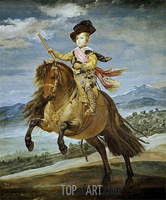 Prince Baltasar Carlos on Horseback, c.1635/36 | Velazquez| Painting Reproduction