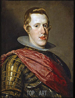 Philip IV in Armour, c.1626/28 | Velazquez | Painting Reproduction