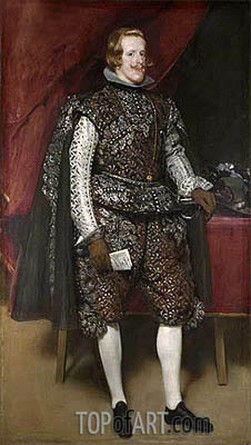 Philip IV in Brown and Silver, c.1631/32 | Velazquez| Painting Reproduction