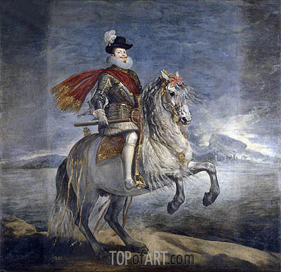 Philip III on Horseback, c.1631 | Velazquez | Painting Reproduction