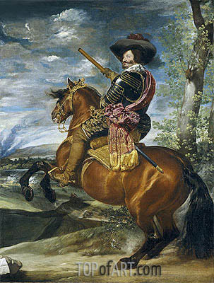 Equestrian Portrait of Don Gaspar de Guzman Count-Duke of Olivares, 1635 | Velazquez | Painting Reproduction