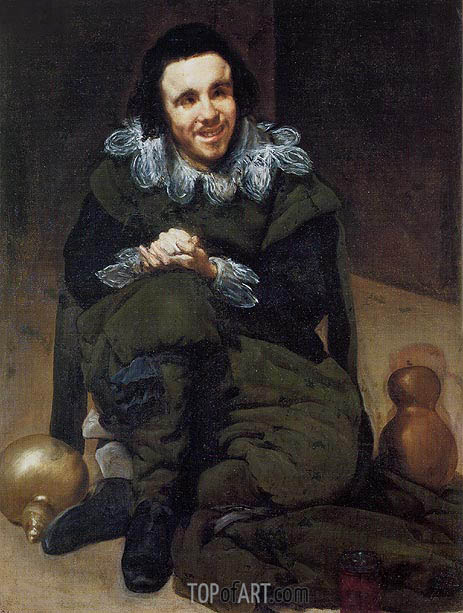 The Buffoon Calabazaz (Calabacillas), c.1637/39 | Velazquez | Gemälde Reproduktion