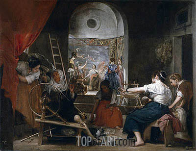 The Fable of Arachne, c.1657 | Velazquez| Gemälde Reproduktion