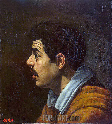 Head of a Man in Profile, c.1616 | Velazquez| Painting Reproduction