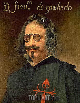 Portrait of Francisco de Quevedo y Villegas, undated | Velazquez| Painting Reproduction