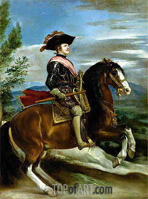 Equestrian Portrait of King Philip IV of Spain,  | Velazquez | Painting Reproduction