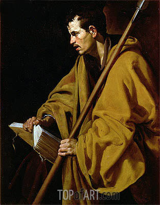 The Apostle St. Thomas, c.1619/20 | Velazquez| Painting Reproduction