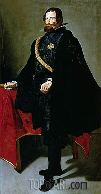 Don Gaspar de Guzman Count-Duke de Olivares,  | Velazquez | Painting Reproduction