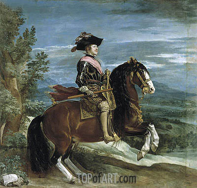 Equestrian Portrait of Philip IV, c.1636 | Velazquez| Painting Reproduction