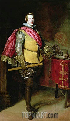 Portrait of Philip IV of Spain,  | Velazquez | Painting Reproduction
