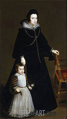 Antonia de Ipenarrieta y Galdos and her Son, Luis, c.1631 | Velazquez | Painting Reproduction