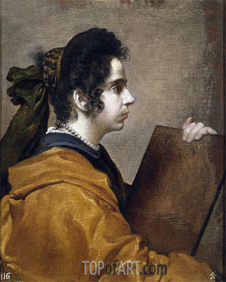 Juana Pacheco, Wife of the Artist as a Sibyl, c.1631 | Velazquez | Painting Reproduction