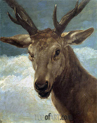 Head of a Buck, c.1634 | Velazquez| Painting Reproduction