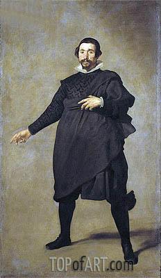 The Buffoon, Pablo de Valladolid, c.1635   Velazquez   Painting Reproduction