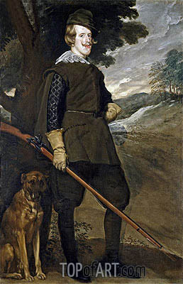 Felipe IV in Hunting Garb, c.1635 | Velazquez | Painting Reproduction
