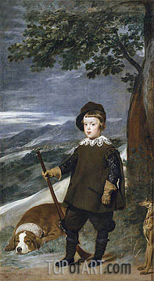 Prince Baltasar Carlos as a Hunter, c.1635/36 | Velazquez| Painting Reproduction