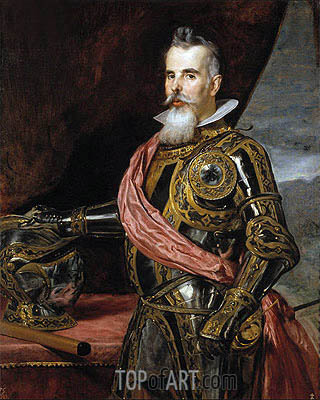 Juan Francisco de Pimentel Tenth Count of Benavente, 1648 | Velazquez| Painting Reproduction