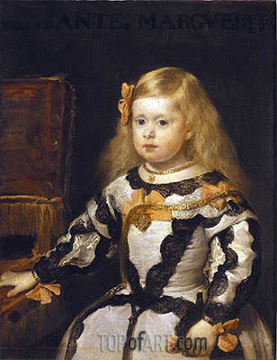 Infanta Margarita, 1654 | Velazquez | Painting Reproduction