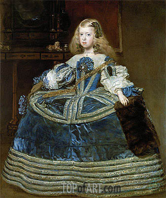Infanta Margarita Teresa in a Blue Dress, 1659 | Velazquez | Painting Reproduction