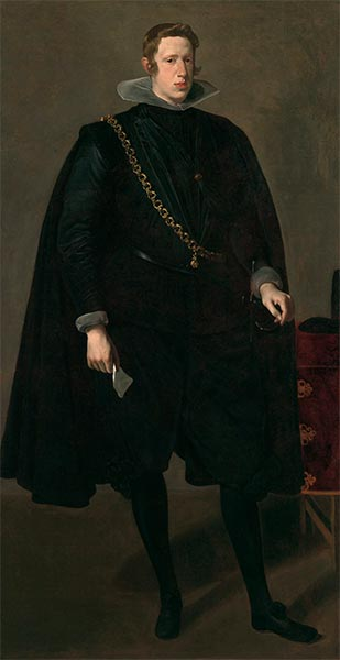 Philip IV, King of Spain, 1624 | Velazquez | Painting Reproduction