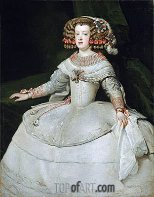 Infanta Maria Theresa, 1653 | Velazquez| Painting Reproduction