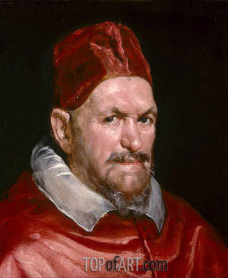 Pope Innocent X, c.1650 | Velazquez | Painting Reproduction