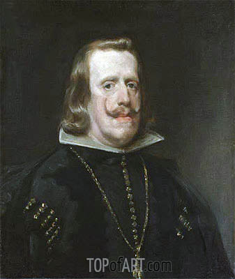 Philip IV of Spain, c.1656 | Velazquez| Painting Reproduction