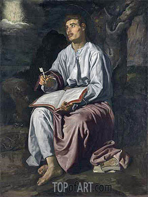 Saint John the Evangelist on the Island of Patmos, c.1618 | Velazquez| Painting Reproduction