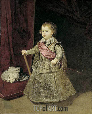 Prince Baltasar Carlos in Silver, 1633 | Velazquez| Painting Reproduction