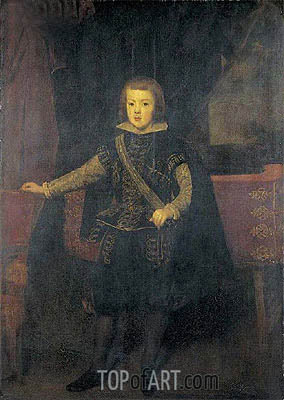 Prince Baltasar Carlos in Black and Silver, c.1640 | Velazquez | Painting Reproduction