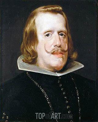 Portrait of Philip IV, c.1652/53  | Velazquez | Painting Reproduction