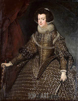 Queen Isabel of Spain, 1632 | Velazquez | Painting Reproduction