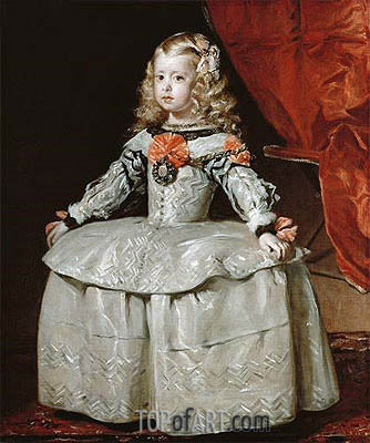 Infanta Margarita Teresa, c.1656 | Velazquez | Painting Reproduction