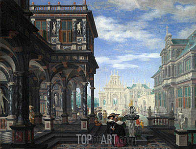 An Architectural Fantasy, 1634 | Dirck van Delen | Painting Reproduction