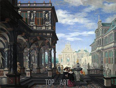 Dirck van Delen | Ein architektonischer Fantasie, 1634