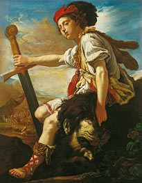 David with the Head of Goliath, c.1620 by Domenico Fetti | Painting Reproduction