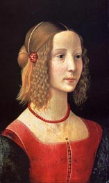 Portait Of A Girl, c.1490 von Ghirlandaio | Gemälde-Reproduktion