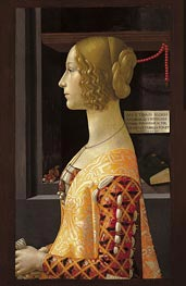 Portrait of Giovanna Tornabuoni, 1488 by Ghirlandaio | Painting Reproduction