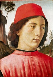 Portrait of a Young Man, c.1477/78 von Ghirlandaio | Gemälde-Reproduktion
