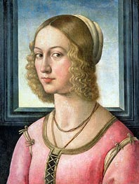 Portrait of Giovanna Tornabuoni, c.1485/88 by Ghirlandaio | Painting Reproduction