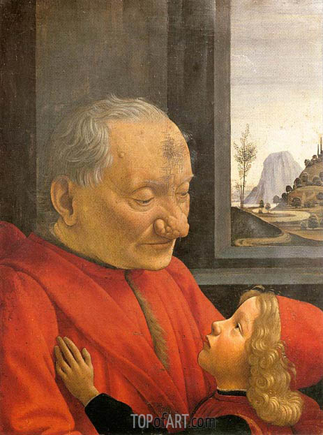 An Old Man and His Grandson, c.1490 | Ghirlandaio | Painting Reproduction