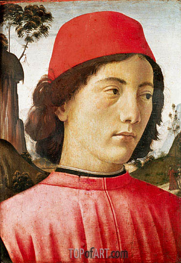 Portrait of a Young Man, c.1477/78 | Ghirlandaio | Painting Reproduction