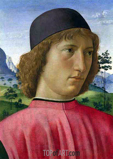 Portrait of a Young Man in Red, c.1480/90 | Ghirlandaio | Painting Reproduction