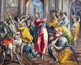 The Purification of the Temple, c.1600 by El Greco | Painting Reproduction