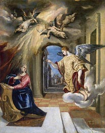 The Annunciation, c.1570 by El Greco | Painting Reproduction