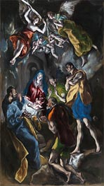 Adoration of the Shepherds, c.1612/14 by El Greco | Painting Reproduction