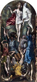 The Resurrection, c.1597/00 by El Greco | Painting Reproduction